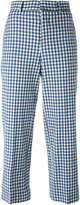 Incotex gingham check cropped trousers - women - Cotton/Nylon/Spandex/Elastane - 44