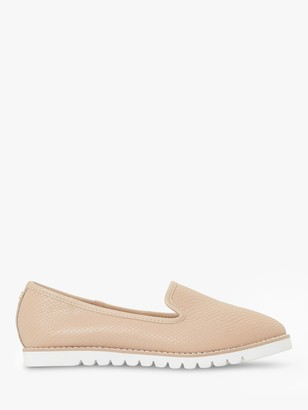 Dune Galleon Ridged Leather Loafers, Cappuccino