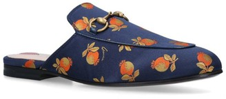 Gucci Fruit Print Princetown Slippers