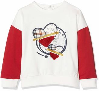 MEK Baby Girls TOP FELPINA GARZATA CON Stampa Sweatshirt