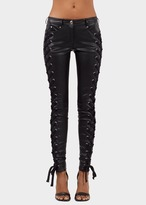 Versace ZXV Lace-up Eco-leather Pants