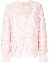 No.21 lace detail blouse - women - Silk/Polyester - 44