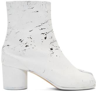 Maison Margiela SSENSE Exclusive Black White-Out Tabi Boots
