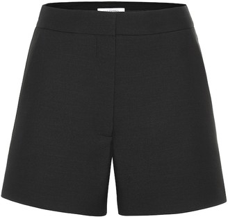Valentino High-rise wool and silk shorts