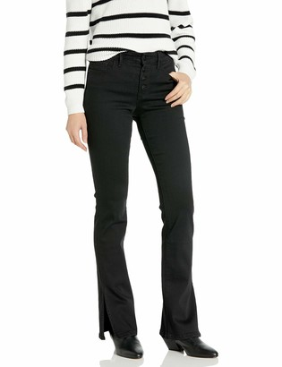 Sanctuary Women's Mid Rise Demi Boot Cut Jean with Side Slits