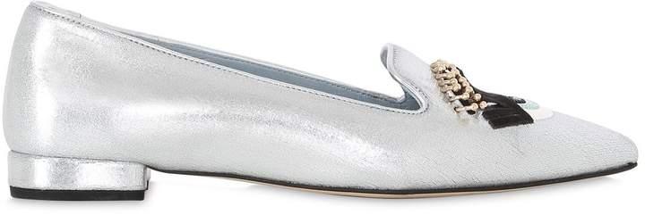 Chiara Ferragni 20mm Flirting Eyes Faux Leather Loafers