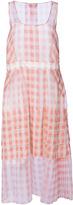 Rochas Silk Gingham Sleeveless Dress