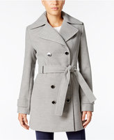Calvin Klein Double-Breasted Belted Walker Coat