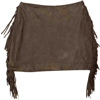 Sandro Brown Suede Skirt for Women