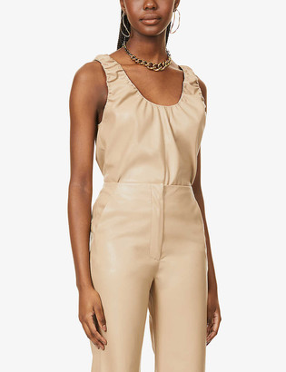 Nanushka Yael sleeveless vegan-leather top