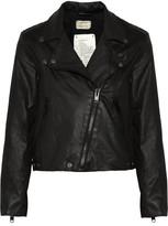 Current/Elliott The Soho coated cotton-blend biker jacket