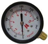"""DHLink 2.5"""" 60mm Brass Pressure Gauge 0-10bar(140psi) Manometer PT1/4"""" Thread"""