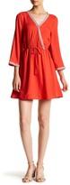 BB Dakota Klea Embroidered Surplice Dress