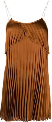 Liu Jo Pleated Chain Strap Dress