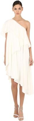 Lanvin One Shoulder Ruffled Dress