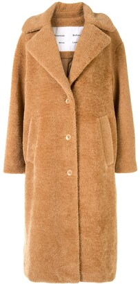 Proenza Schouler White Label Oversized Teddy Bear Coat