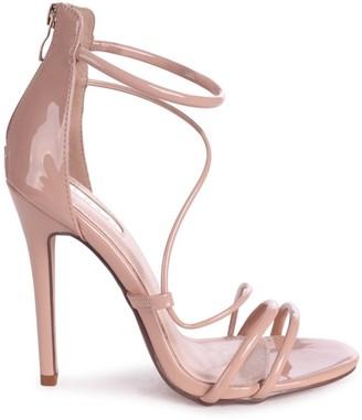 Linzi CORINNA - Mocha Patent Strappy Caged Stiletto Heel With Ankle Strap