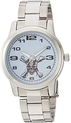 Disney Men's Pirates Analog-Quartz Watch with Stainless-Steel Strap