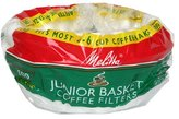 Melitta U S A Inc 62912 Junior Basket Coffee Filters
