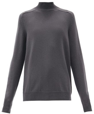 Bottega Veneta High-neck Wool Sweater - Dark Grey
