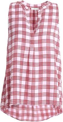Joie Checked Crepe Top