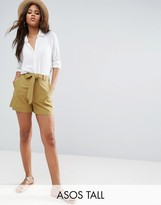Asos Tall Tailored Short With Self Tie