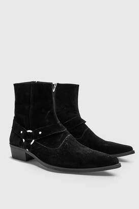boohoo Harness Detail Western Boot