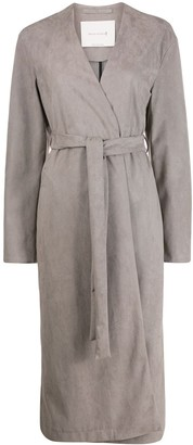 MACKINTOSH Mauchline eco-suede belted coat | LM-1027S
