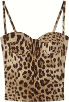 Dolce & Gabbana Stretch silk-charmeuse bustier top