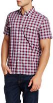 Lucky Brand Regular Fit Short Sleeve Western Plaid Shirt