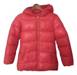 Benetton Pink Polyester Jackets & Coats
