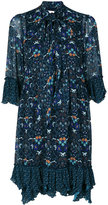 See by Chloe printed pussybow dress - women - Polyester/Viscose - 40