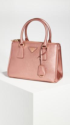 What Goes Around Comes Around Prada Pink Metallic Mini Galleria Bag