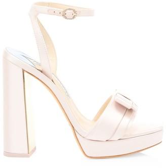 Sophia Webster Andie Bow Platform Ankle Strap Sandals