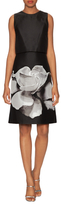 Carolina Herrera Floral Skirt Knee Length Dress