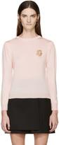 Simone Rocha Pink Beaded Appliqué Sweater