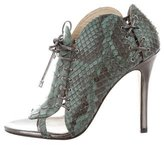 Camilla Skovgaard Python Lace-Up Booties