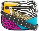Marc Jacobs small Nomad punk patchwork satchel bag - women - Goat Fur/Leather/PVC - One Size