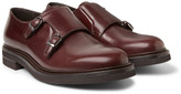 Brunello Cucinelli Leather Monk-Strap Shoes