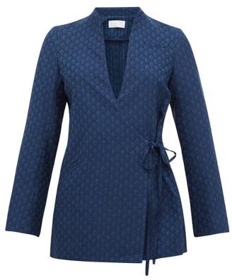 Mame Kurogouchi - Murogouchi Wrapped Wool Jacket - Navy
