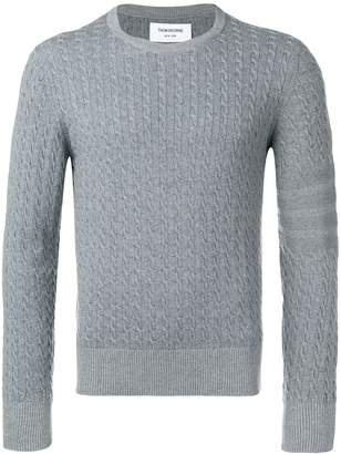 Thom Browne striped sleeve cable knit jumper