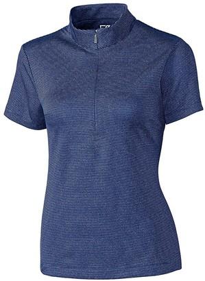 Cutter & Buck Women's CB Drytec Short Sleeve Geneva Zip Mock
