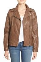 LAMARQUE 'Terri' Lambskin Leather Moto Jacket