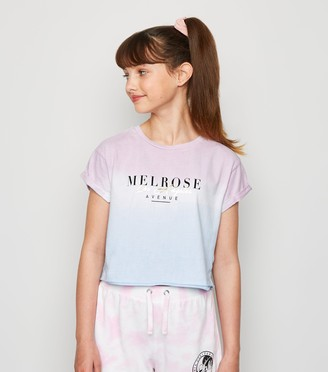 New Look Girls Tie Dye Melrose Slogan T-Shirt