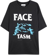 Facetasm Black Printed Cotton T-shirt