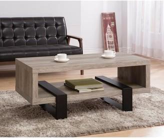 Union Rustic Lando Driftwood Open Shelf Coffee Table Union Rustic