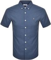 Farah Steen Slim Short Sleeved Shirt Blue