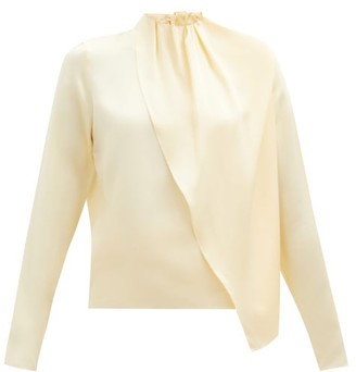 Dodo Bar Or Berna Draped Silk-satin Blouse - Cream