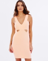 Lipsy Ribbed Cut-Out Body-Con Dress