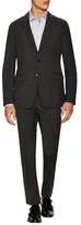 Prada Wool Sharkskin Notch Lapel Suit